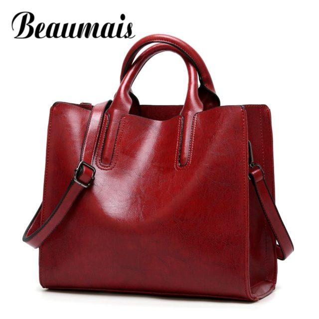 Beaumais Fashion Bags For Women 2019 Luxury Handbags Women Bag Designer Soft Women Messenger Bags Female Shoulder Bag DF0013