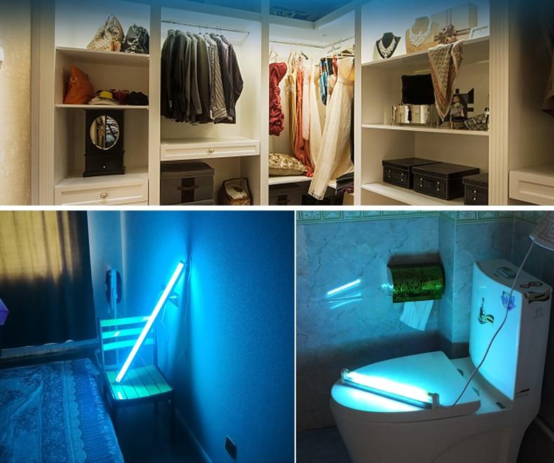 Bathroom Uv Lamp Mite Bacterium Killer T5 Tube Led Ultraviolet