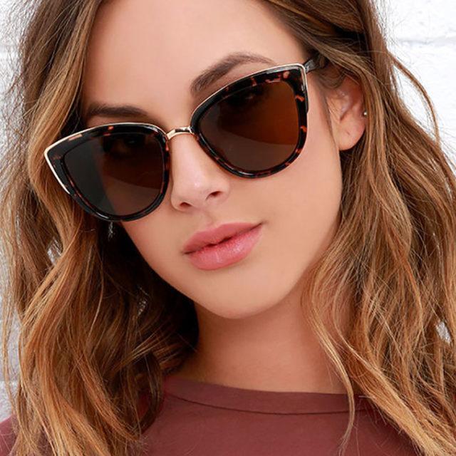 2020 Fashion Cat Eye Sunglasses Women Brand Design Vintage Female Glasses Retro Cateye Sun Glasses For Women Oculos De Sol UV400