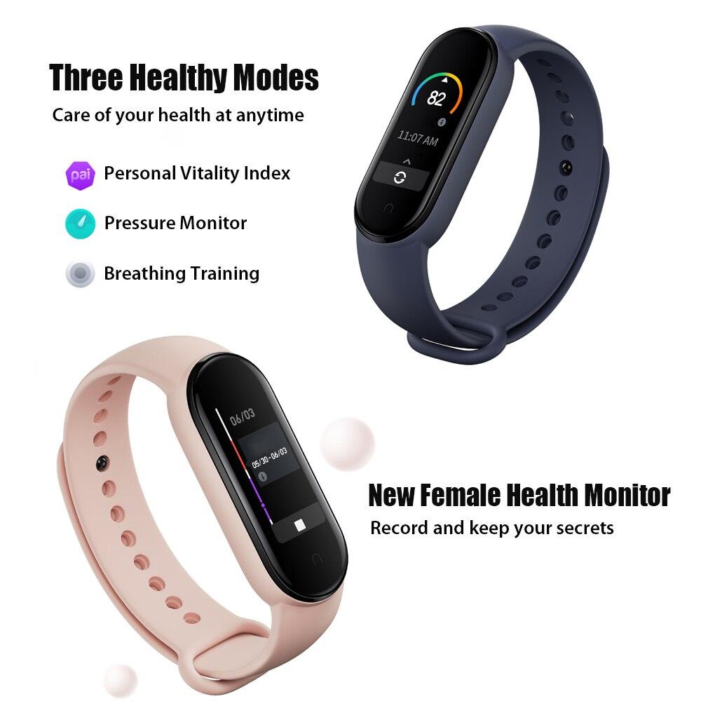 2020 New Xiaomi Band 5 Smart Wristband 5Color Screen Heart Rate Fitness Tracker Bluetooth Sport Bracelet Waterproof Dropship